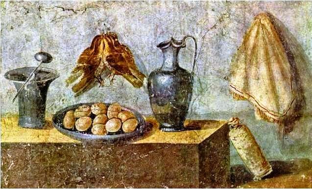 Fresco de la Casa de Julia Felix, Pompeya. Museo Arqueológico de Nápoles