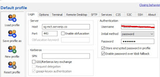 Memasukkan Akun SSH di Bitvise
