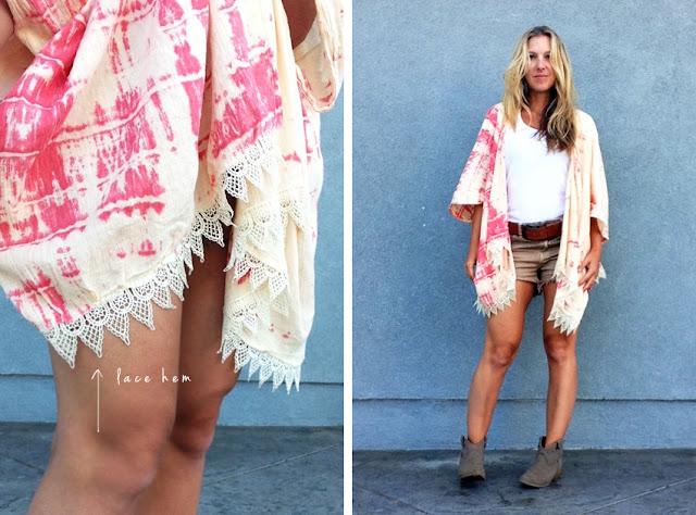 Como hacer un Kimono-Tunica con un Trozo de Tela