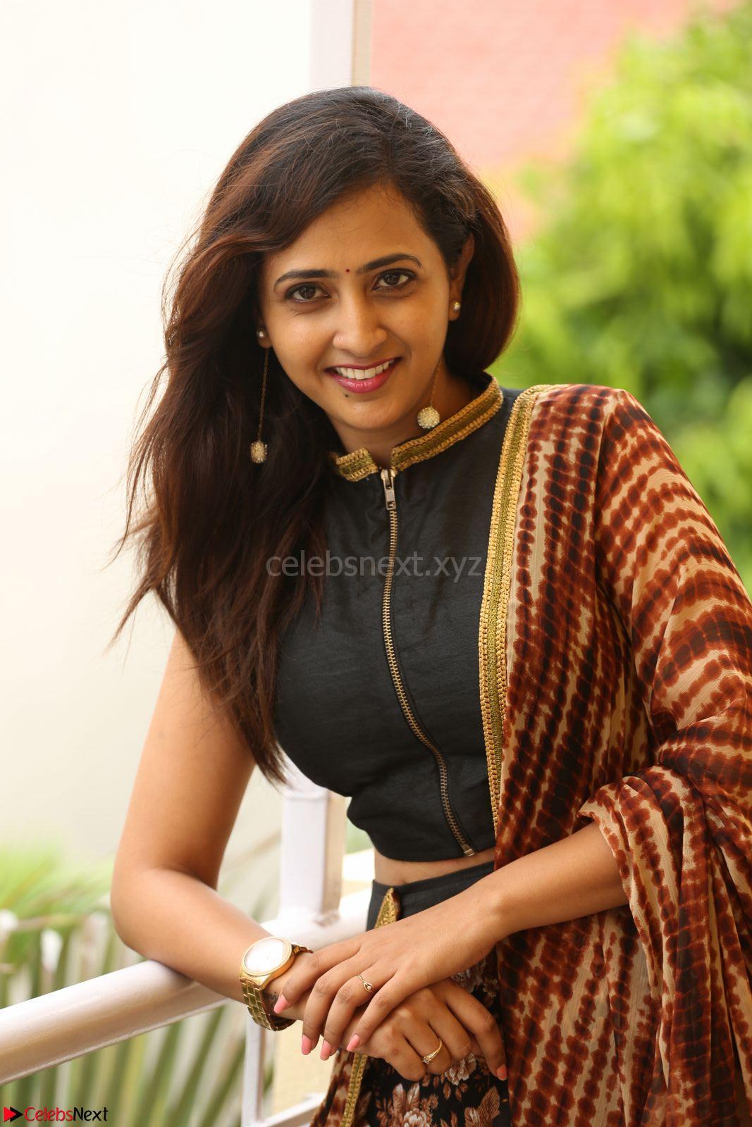 Lasya looks super cute in black choli Saree at Raja Meru Keka Press Meet ~ CelebsNext Exclusive