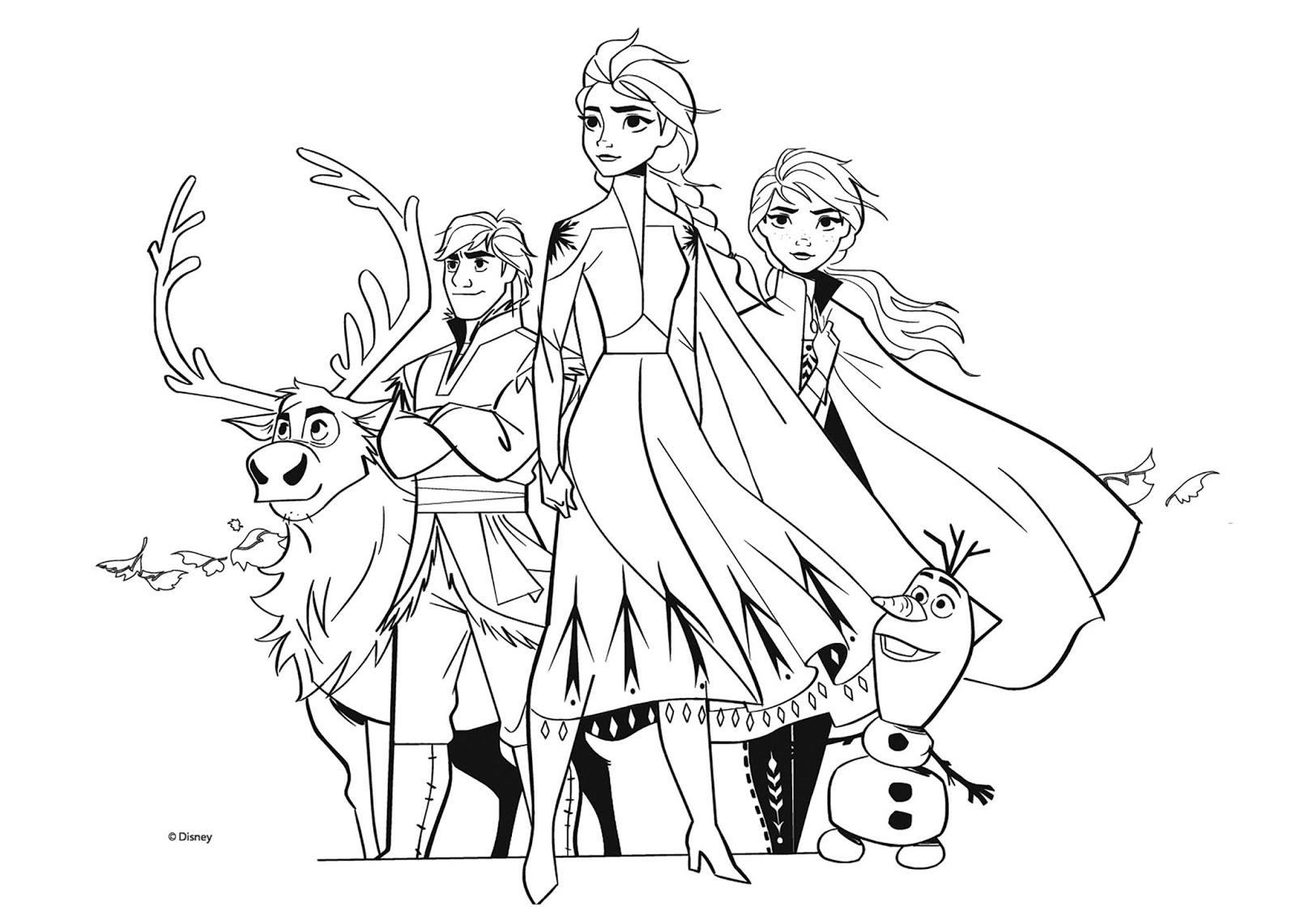 Tranh tô màu Elsa và Anna 02