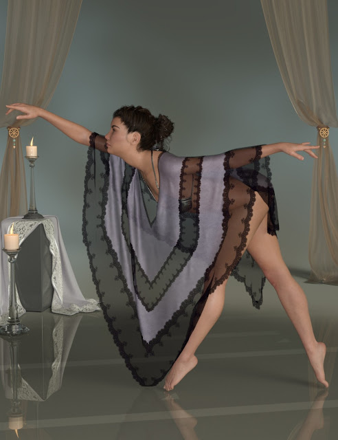 dForce Divine Drapes for Genesis 8 Female