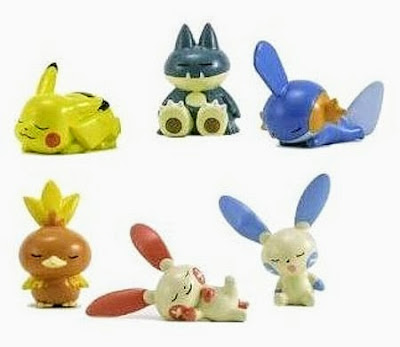 "Plusle figure sleeping pose Tomy ""The first dream of the new year"""