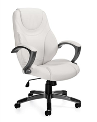 White Leather Conference Room Office Chair