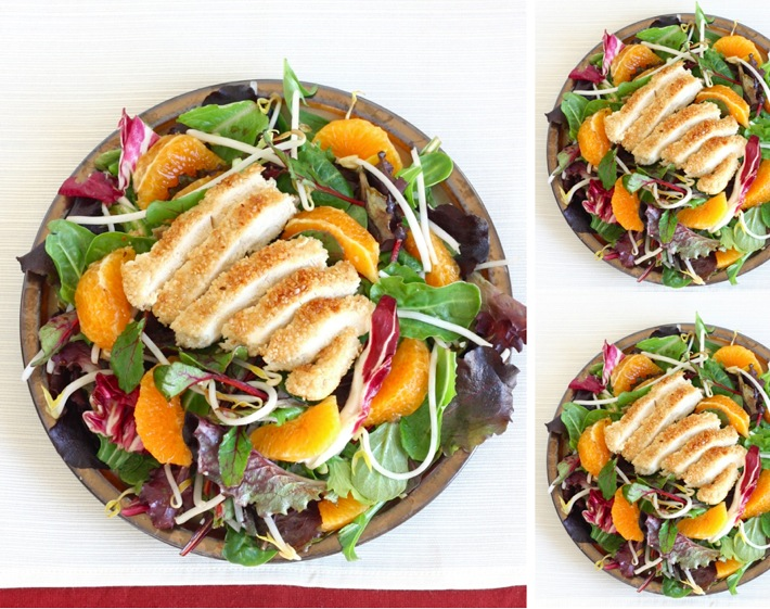 Sesame Chicken Tangerine Salad by SeasonWithSpice.com