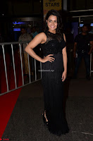 Wamiqa Gabbi in a sleeveless Black Designer Transparent Gown at 64th Jio Filmfare Awards South ~  Exclusive 031.JPG