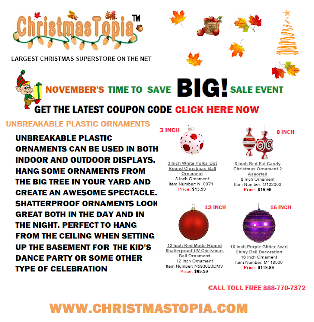 You can hang these unbreakable plastic ornaments from just about anywhere. UV protected and shatterproof, these Christmas ornaments are much safer than glass especially for commercial applications where there is a liability concern http://bit.ly/2zBwIBJ