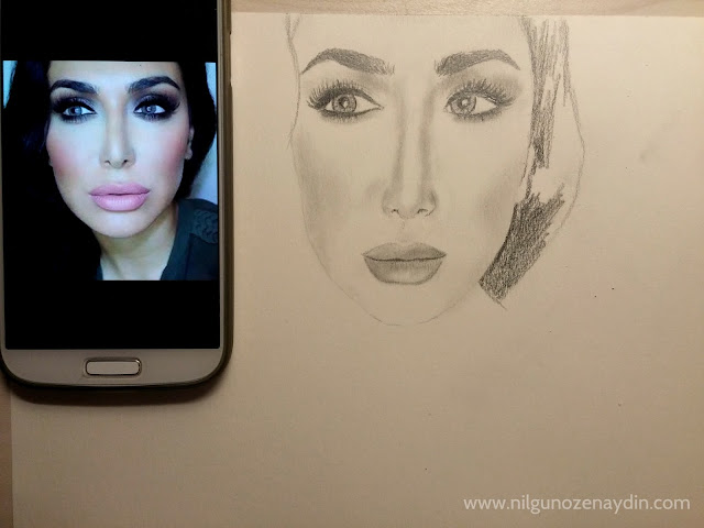 www.nilgunozenaydin-drawing process-huda kattan-huda beauty-drawing