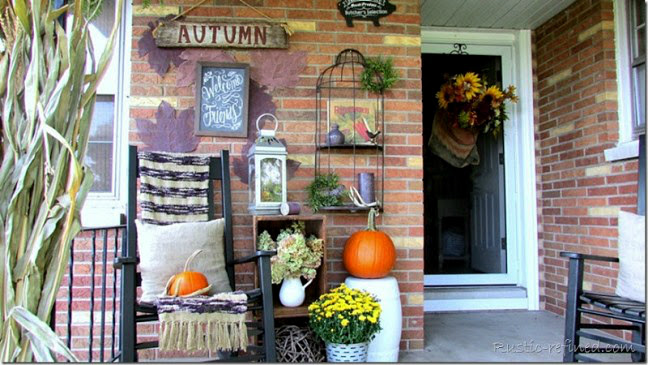 Porch decorated for fall & Front Porch Decorated for Fall - Rustic u0026 Refined