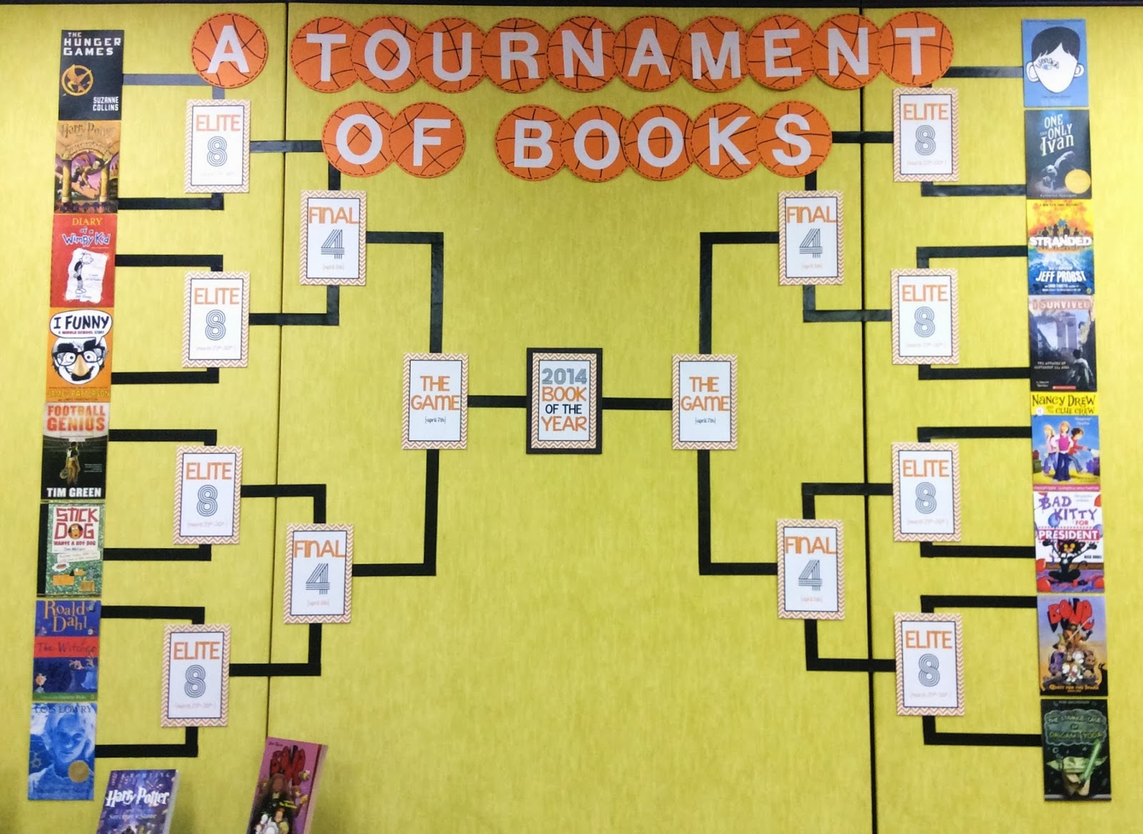 Book Madness March Book Display