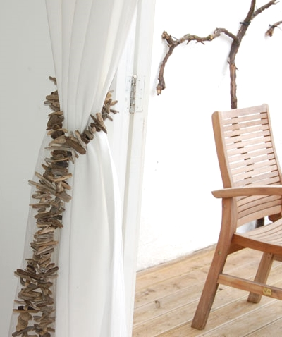 driftwood curtain tie back