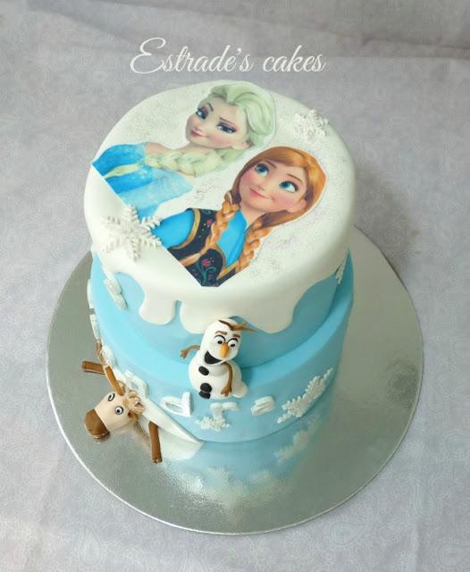 Tarta Frozen de cumpleaños 3