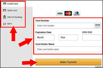 how to pay pan card payment online