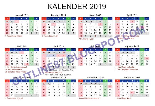 mentahan kalender 2019,Free download