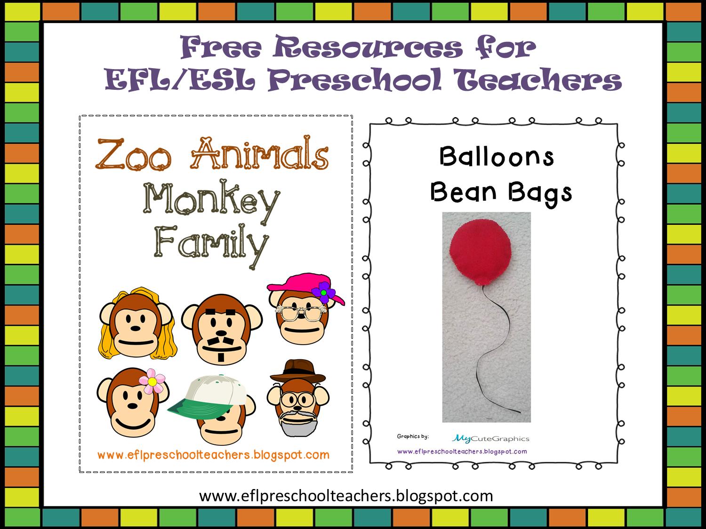 Esl Efl Preschool Teachers Free Resources For Efl Esl