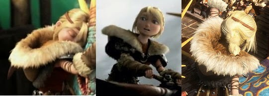 Image collage of Astrid Hofferson's caplet and hood