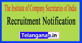 The Institute of Company Secretaries of India ICSI Recruitment Notification 2017