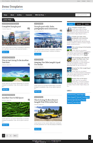 Extra News Blue Blogger Template