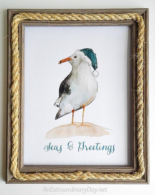 Coastal Christmas Art Printable