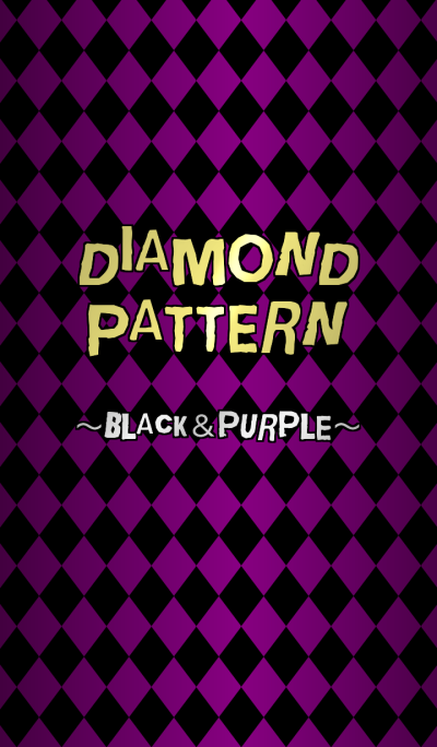 Diamond pattern. ~black&purple~