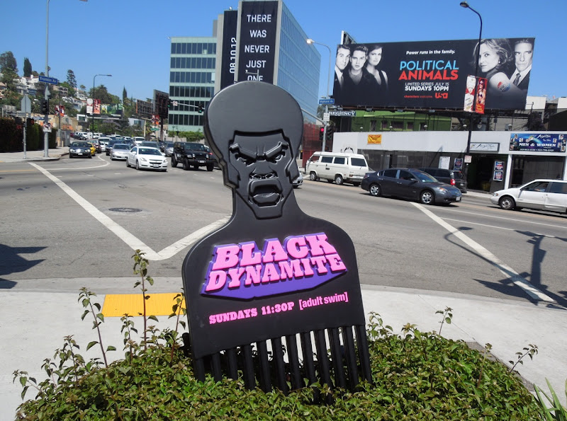 Giant branded Black Dynamite afro comb