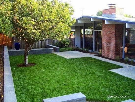 Arquitectura de casas jardines modernos mid century en for Diseno jardines exteriores casa