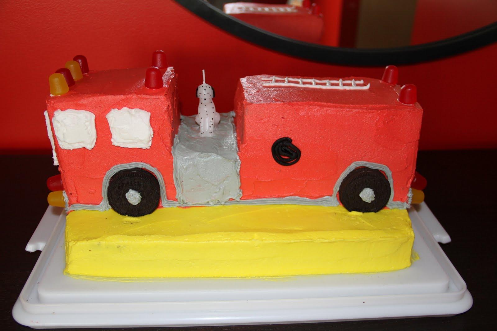 Birthday Cake Was Also Wonderful Enough To Make This One Thank You Tara Baking Goddess Betty Crocker Fire Engine Dalmatian Candle