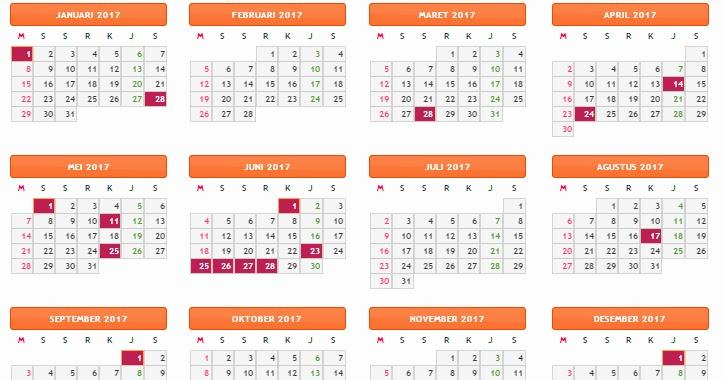 Download Kalender Tahun 2017 Gratis   Warung Baca