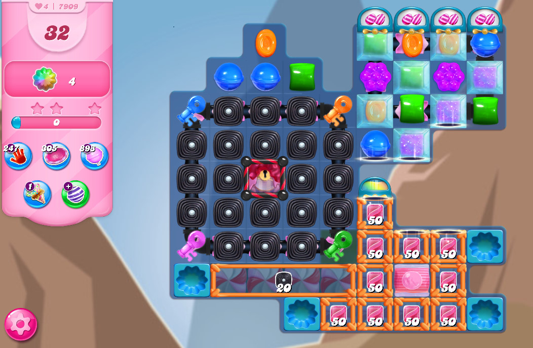 Candy Crush Saga level 7909