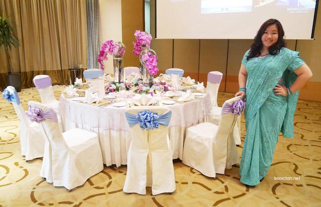 Table set up at the Grand Ballroom
