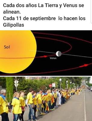 Cada dos años la Tierra y Venus se alinean. Cada 11 de septiembre lo hacen los gilipollas.