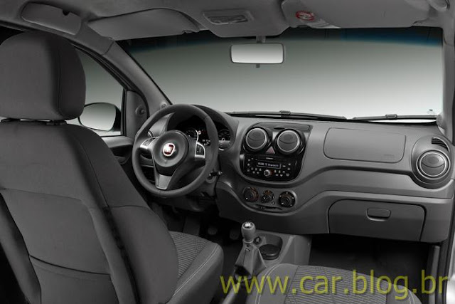 Novo Palio Attractive 1.4 2012 - interior