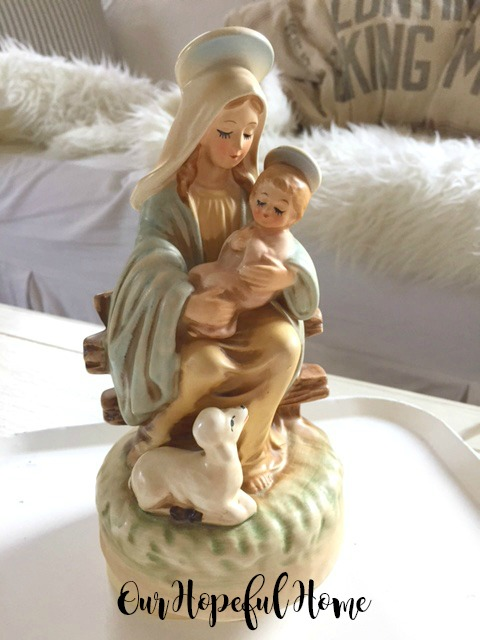 Mary and baby Jesus Silent Night music box