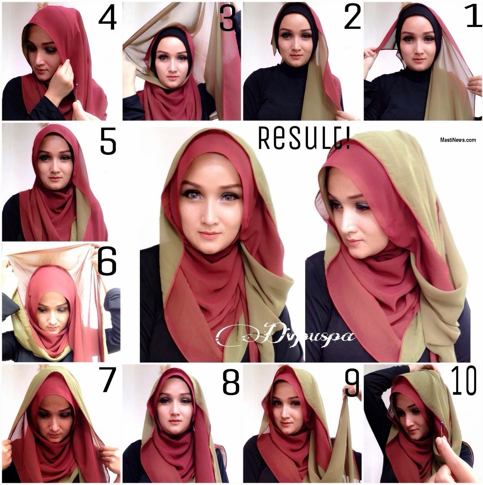Tutorial Hijab Segi Empat Acara Formal Tutorial Hijab Paling