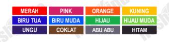 pilihan stempel warna, pilihan stempel murah, pilihan stempel online, pilihan sempel flash