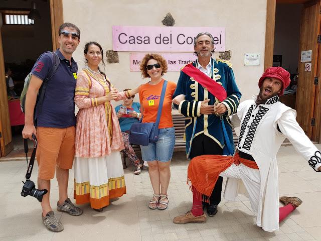 Foto ricordo nella Casa del coronel-La Oliva-Fuerteventura