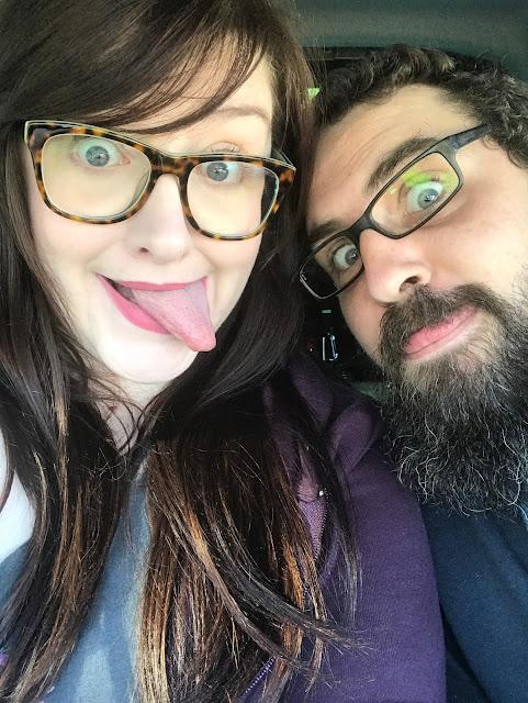 Selfie of Ian and Sarah pulling tongues