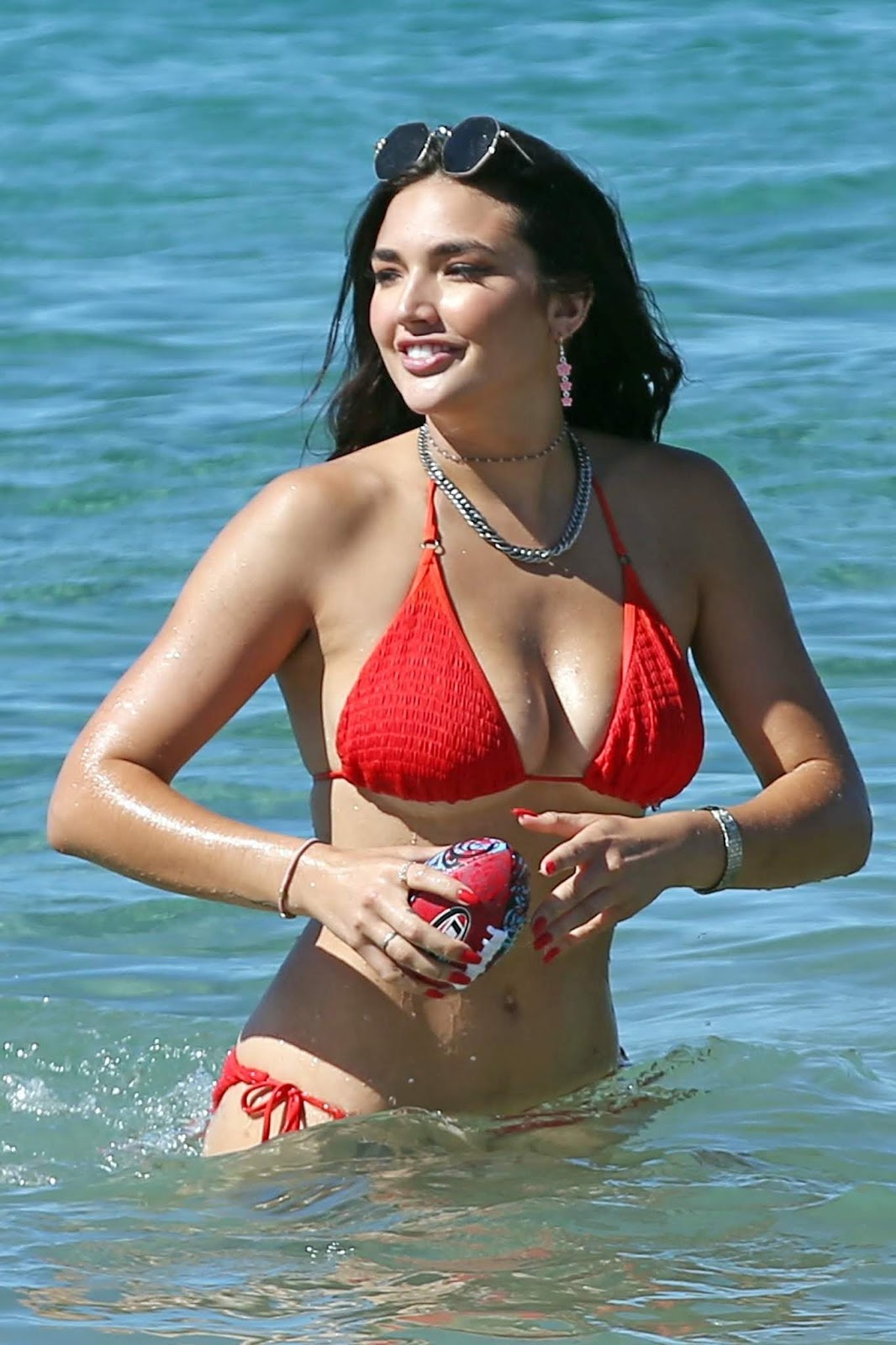 Hailee Lautenbach - sizzles in a red bikini in Maui 11/19/2018