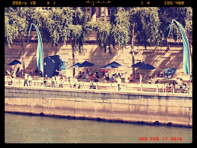 playa de París en verano