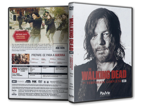 Capa DVD The Walking Dead - 7ª Temporada - Discos 3 a 5
