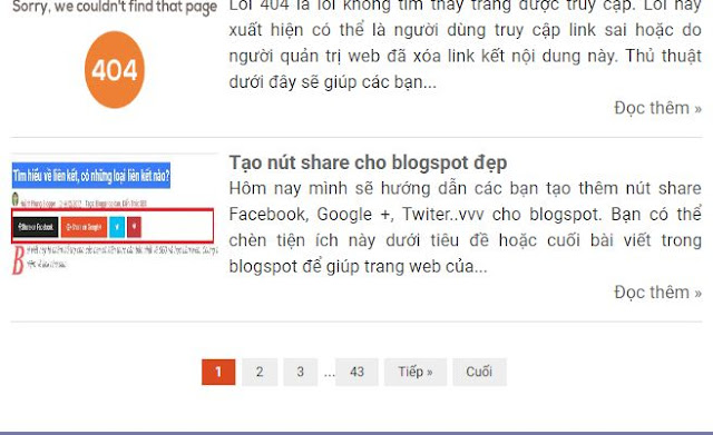 Tạo phân trang cho blogger đẹp và đã fix lỗi mất bài