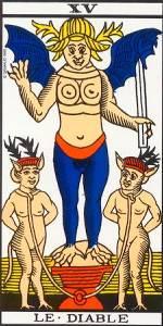 El Diablo- Arcano XV- Tarot Marsella