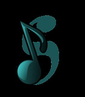 Abecedario Verde con Notas de Música.