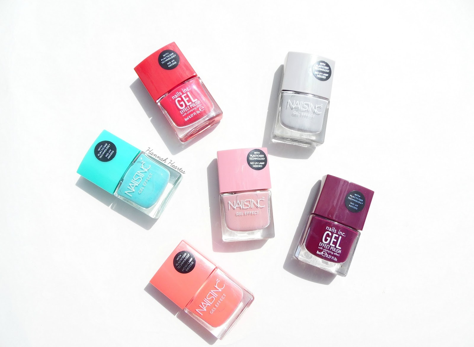 Nails inc Gel Effect Nail Polishes