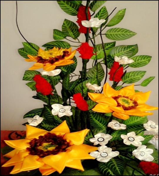 Langkah-Langkah Pembuatan Rangkaian Bunga Matahari Dari Limbah Kain Perca  4d259b098f