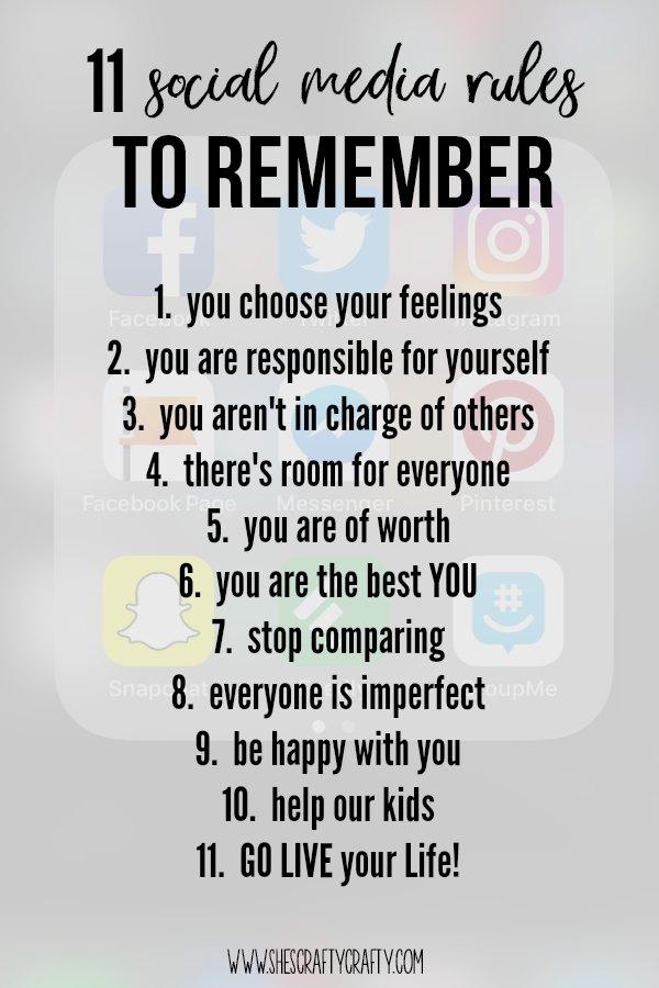 social media, rules