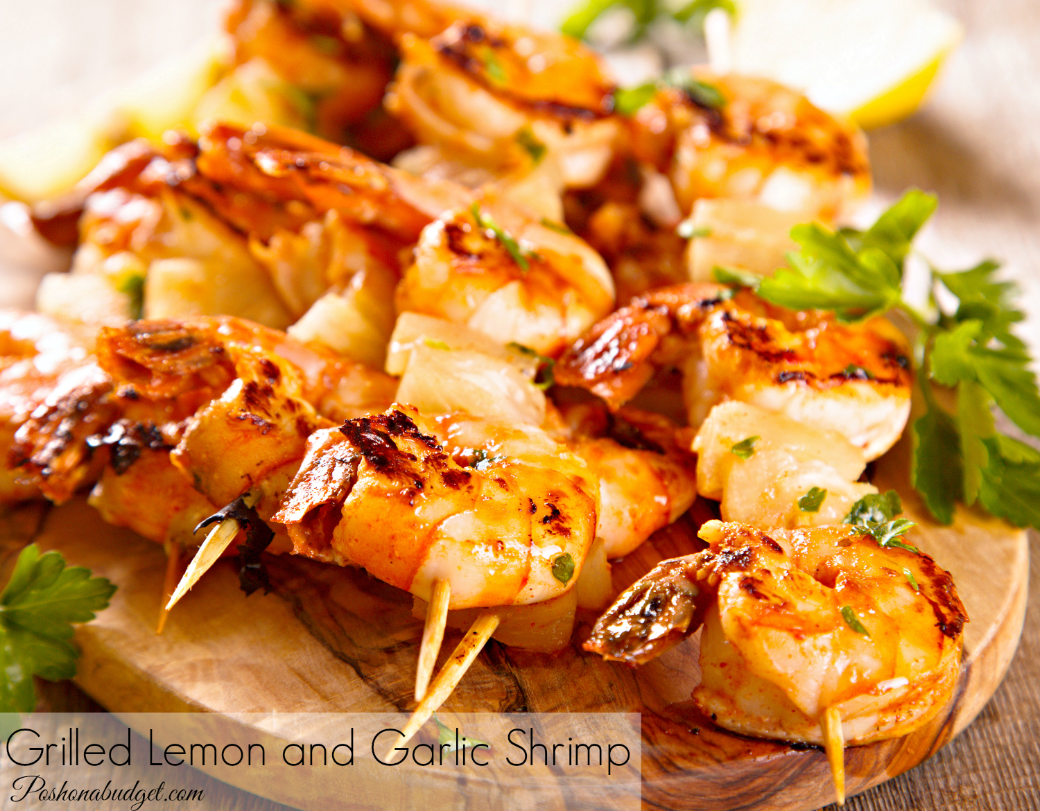 Grilled Lemon Garlic Shrimp
