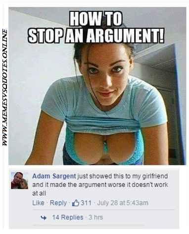 Stop an argument