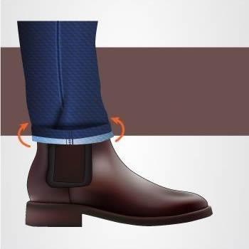 Como dobrar a barra da calça masculina corretamente?