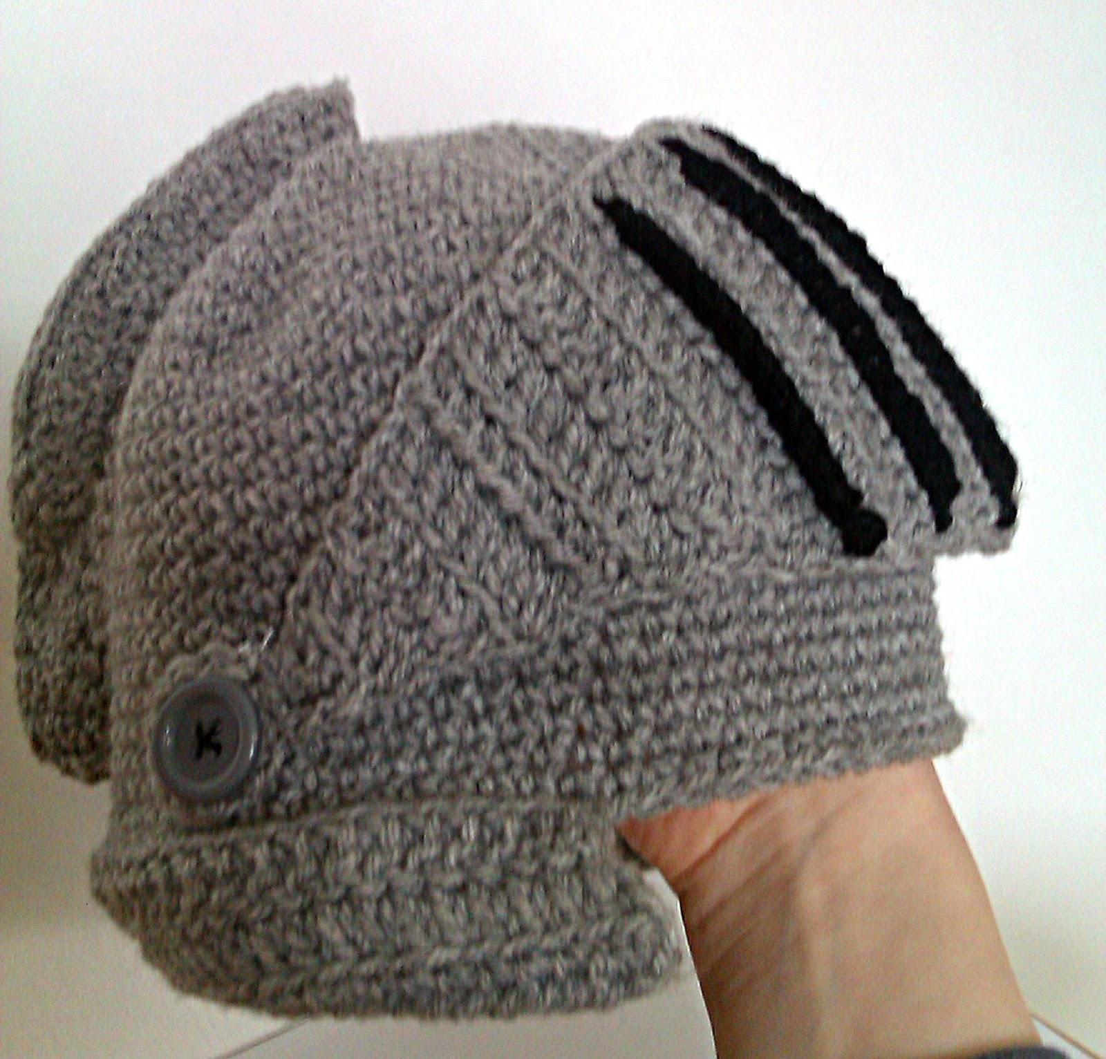 DIY   Gorro Armadura Crochet ... 7d7c4b2bfb8